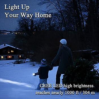 Led Taschenlampe, Aneken Superhelle Cree 2000 Lumen 5 Leuchtungsmodi Einstellbar Für Outdoor Sports Campen Wandern Fahrradfahren Und Notfälle 11