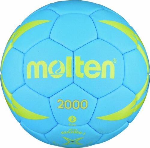 Molten H2X2000 - Balón de balonmano multicolor Blau/Gelb/Silber Talla:3