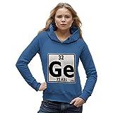 Die besten GE Von Cookings - TWISTED ENVY Damen Kapuzenpullover Periodic Table Element GE Bewertungen