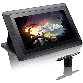 """Wacom DTK-1300-3 Display Interattivo Full HD con Penna Cintiq, Schermo Ruotabile da 13"""", Nero"""