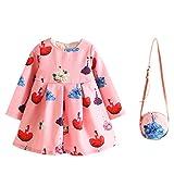iBaste Enfant Filles Robe de Princesse avec petit Sac à main 2-7 Ans