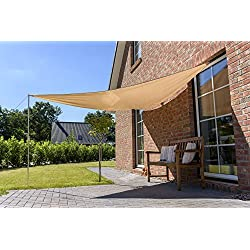 Outent® toldo (3,6 x 3,6 x 3,6 m Impermeable Protector Solar Protección UV Beige