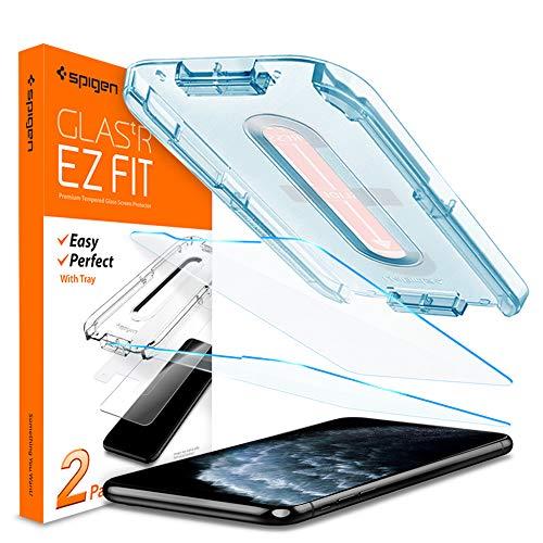 """Spigen, 2 Pièces, Verre Trempé iPhone 11 Pro/XS/X (5.8""""), EZ FIT, Kit d'installation Inclus, Premium 9H, Respectueux de la Casse, Compatible Visage ID, Vitre Protection ecran iPhone 11 Pro/XS/X"""