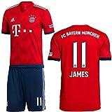 adidas FCB FC Bayern München Set Home Heimset 2018 2019 Kinder James 11 Gr 164