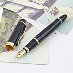 jinhao x450 black and golden m nib fountain pen is available now from our us warehouse for only $4.99 jinhao x450 black and golden m nib fountain pen