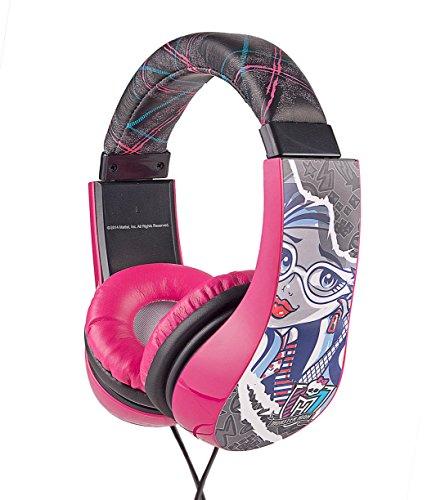 Image of Headphones for Kids Monster High Kid Safe 2 Children Friendly Headphones Volume Limited On Ear Headphones for Children (Monster High)