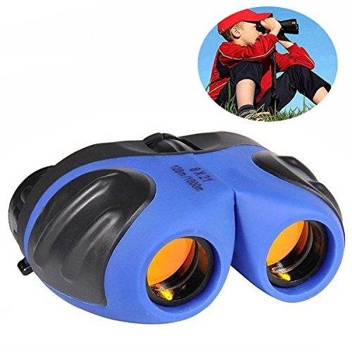 Binoculares para niños, Top Juguete a Prueba de choques Prismáticos compactos para niños Regalos Juguetes para niños de 3-12 años Azul TTUKTT02