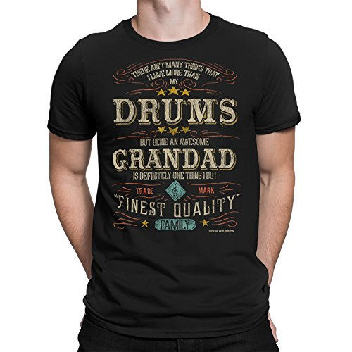 Mens DRUMMER T-Shirt There Aint Many Things I Love More Than My DRUMS But Being An Awesome GRANDAD Is One Thing I definitley Do FAMILY Music Drums Gift