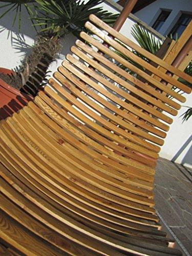 ASS DESIGN Hängeliege NAVASSA-SEAT aus Holz Lärche/Metall mit Auflage (OHNE Gestell) von Farbe:Braun - 4