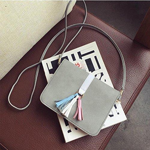 Zarupeng Art und Weise Universal-Handy-Beutel, Taschen-Fall Kuriertasche, Schulter-Beutel grau