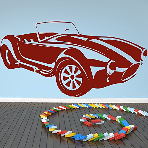 Auto Ac Cobra Car Wall Sticker Adesivo Art disponibile in 5 dimensioni e 25 colori Grande Bianco