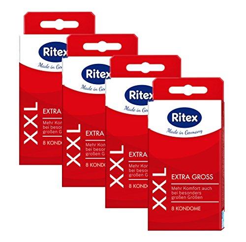 32 (4 x 8er) Ritex XXL Kondome - Extra Große Condome