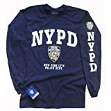 NYPD Polizei Langarm T-Shirt New York City Police Department Logodruck M