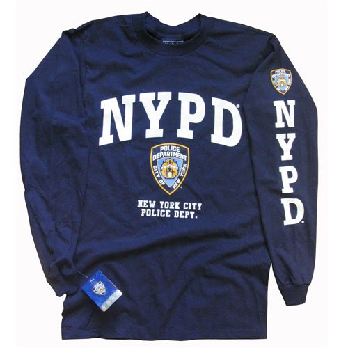 NYPD Polizei Langarm T-Shirt New York City Police Department Logodruck S (Nypd Pullover)
