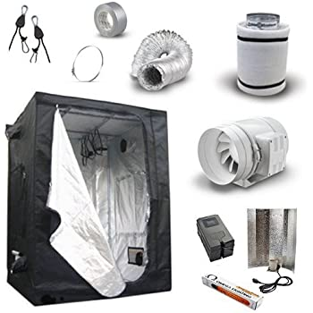 Hydroponic Grow Room Tent Kit - Black Orchid Tent  4  / 100 mm TT  sc 1 st  Amazon UK & Hydroponic Grow Room Tent Kit - Black Orchid Tent  4