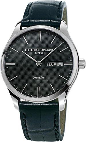 Frederique Constant Geneve Classics Quartz FC-225GT5B6 Reloj de Pulsera para hombres Con pulsera adicional