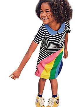 Ropa Niña, K-youth® Rayas Arcoiris Verano Vestidos Niñas Vestido de Fiesta de Princesa Tutu Vestidos Niñas Vestido...
