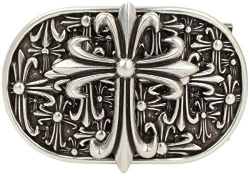 Brazil Lederwaren Gürtelschnalle Cross 4,0 cm | Buckle Wechselschließe Gürtelschließe 40mm Massiv | LARP- und Mittelalter-Outfit