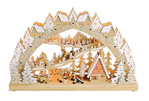 """LED Lichterbogen""""Kinder im Winterwald"""" Weihnachtsbeleuchtung Beleuchtung Weihnachtsdeko Holz leuchtend Weihnachten Dekoration ausgefallen Stimmungslicht Fensterbeleuchtung"""