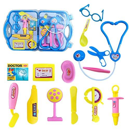 Likeluk Arztkoffer Set Kinder-Rollenspiele Doktor Spielzeug Arztköfferchen Set Doktorkoffer Spielzeug für Kinder Jungs Mädchen