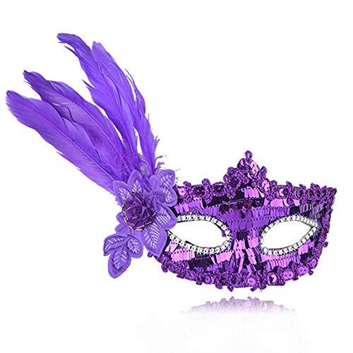 eder Maske Maskerade Dress Up Party Halloween Weihnachten Hochzeit Dekoration Requisiten Venedig Half Face Mask ()
