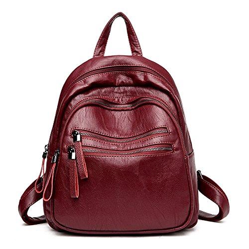 Syknb Shoulder Bag, Casual Backpack, Simple Travel, Shoulder Bag,Violet Claret