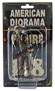 American Diorama-77414-Figura-WWII USA Military Police 1with Riffle-Escala 1/18-marrón/Beige