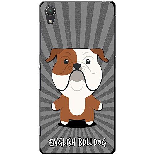 Englische Bulldogge, Britische Bulldogge Hartschalenhülle Telefonhülle zum Aufstecken für Sony Xperia Z2 (Englische Bulldogge Valentine)