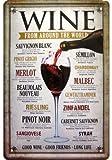 ''Wine from Around The World Décoration Motif plaque de réplique Tin Sign