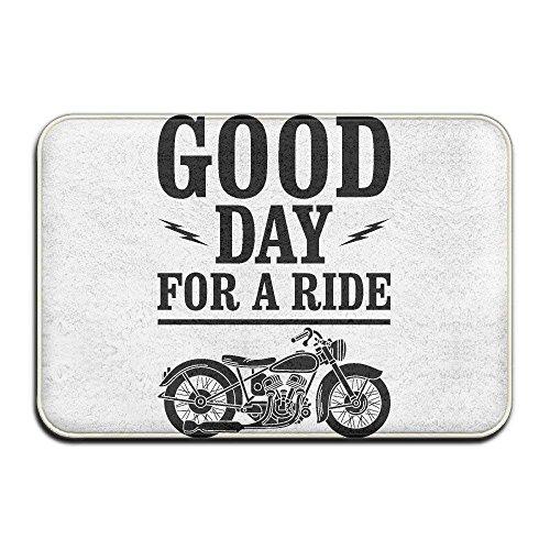 Lmunxuy good day for a ride motorcycledoormat entrance mat floor mat rug indoor/outdoor/front door/bathroom mats rubber non slip
