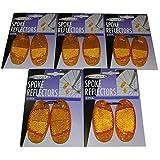 10er Set Fahrrad Speichen-Reflektoren Katzenaugen orange 7x3