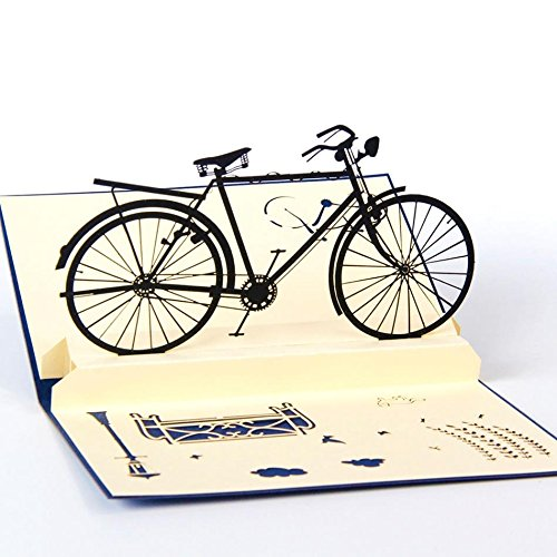 uniqueplus-vintage-bike-3d-pop-up-greeting-gift-cards-for-birthday-or-any-occasion
