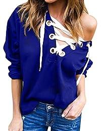a3bb61925117 ISSHE Crewneck Pullover Sweatshirt Damen Oberteile Shirt Frauen Sport Sweat  Pullover Sweatshirts Damen Lässige Jumper Pullis Coole…