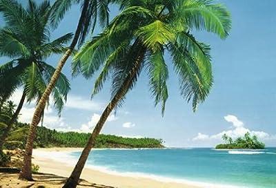 1art1 40554 Inseln - Tropische Insel 8-teilig, Fototapete Poster-Tapete (368 x 254 cm) von 1art1 auf TapetenShop