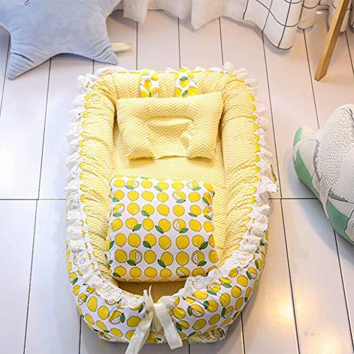 gbare abnehmbare Gürtel Quilt Babybett Neugeborenen bionischen Bett voll abnehmbare Design,color2,90x55x15cm ()