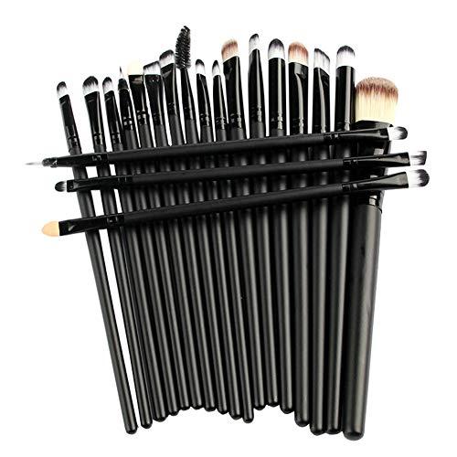 20 Stück Make-up Pinsel Set, Make-up Augenbrauen Mascara Pinsel, Smudge Pinsel Toilettenartikel Make Up Pinsel Set,Schwarz,20 Stück