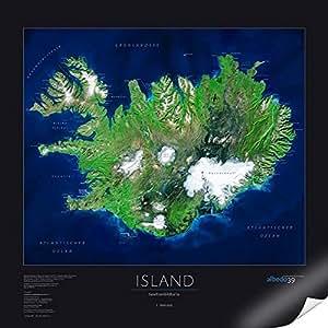 Albedo39 - Poster con immagine satellitare, motivo: Islanda