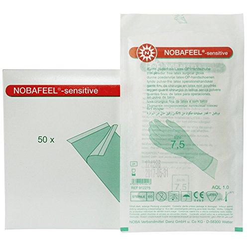 NOBAFEEL® sensitive OP-Handschuhe puderfrei 50 Paar, Größe:7.0