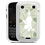 Blackberry Bold 9900 Silikon Case Hülle weiß - Blätterrahmen