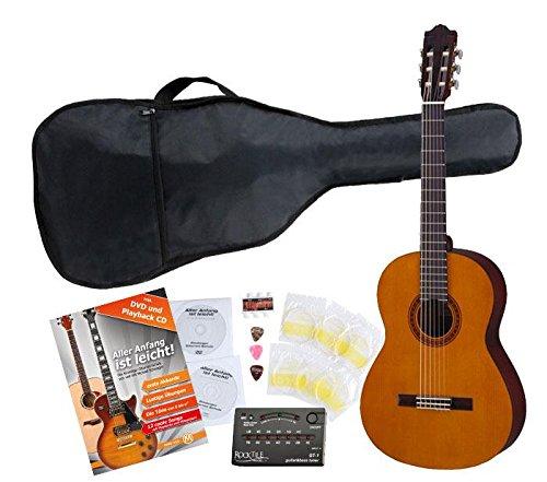 Yamaha C40 Guitarra clásica (Incluidos funda, afinador y cuerdas)