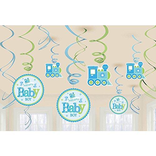 Amscan 671461Welcome Baby Boy Swirl Dekorationen