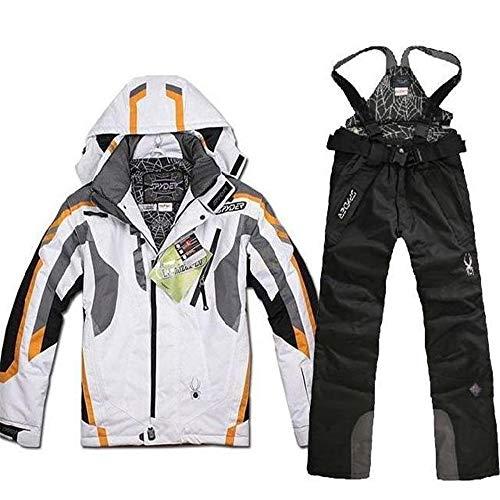 LEIT Traje de esquí para Hombre Traje de esquí para Exterior Impermeable a Prueba de Viento Mantener abrigados los Pantalones de algodón Cargar la Ropa, 1, L