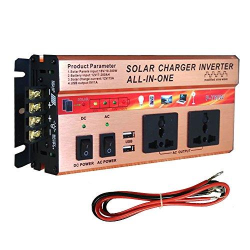 400 Watt / 750 Watt Wechselrichter Solar / AC Ladegerät Controller Integrierte Kit AC DC 12 V USB Solar Panel (750W) (12v Ac-panel)
