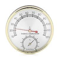 Description: Ce 2-1 thermomètre et hygromètre est un excellent moyen de garder la trace de l'humidité et la température à l'intérieur de votre sauna. Spécification: Réduction considérable: 100% neuf Matériau: métal Couleur: montré comme image Pl...