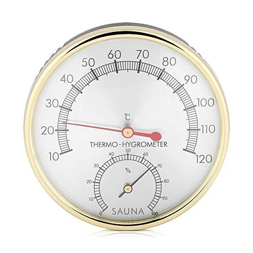 Fdit 2 In 1 Sauna Hygrothermograph Thermometer Hygrometer Sauna Raum Zubehör für Häuser Büros Werkstätten Schulen Märkte Lagerhäuser