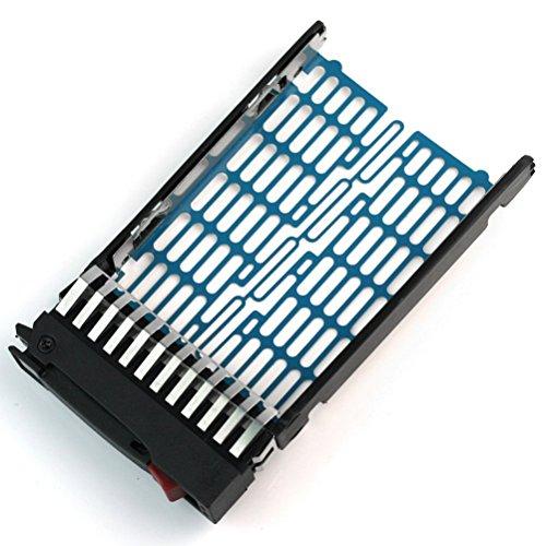 Foxnovo 2,5-Zoll SATA HDD Caddy Festplatteneinschub für HP Proliant DL380 DL360 G6 DL360 DL580 DL585 DL785 G5 BL20p DL380 DL580 ML570 G4 DL385 G5p DL360 G4p (schwarz)