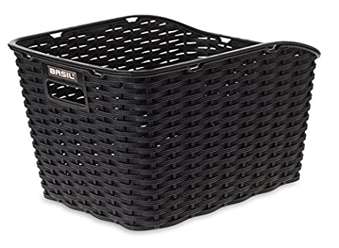 Basil Fahrradkorb Weave Wp, Black, One Size,