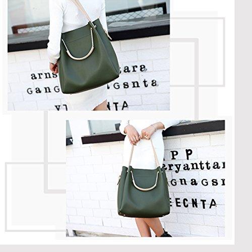 Nicole & Doris New Women Crossbody Handbag Borsa A Tracolla Borsa Grande Pu Nero Verde
