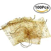 ROSENICE Bolsa de Organza Bolsitas de tela de saco bolsas de sacos de los 9 *
