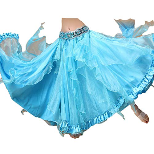 JTIH®Belly Dance-Kostüme unter dem großen Bauchtanzrock mit dem Swing-Rock. Haben Sie einen so sexy Wave-Rock mit Fischschwanz gesehen?
